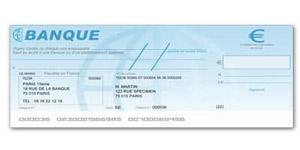 Chèques bancaires acceptés